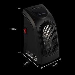Mini calentadores online-2018 Mini calentador Ventilador 400 W Portatile Spina Práctico Calentador Presa Stufa Elettrica Personal Ventilador calentador portátil Uso de control remoto para la oficina en casa