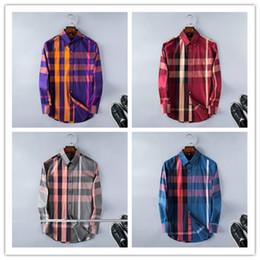 Wholesale mens gold dress shirts - 2017 Brand Men's Business Casual shirt mens long sleeve striped slim fit camisa masculina social male shirts new fashion shirt
