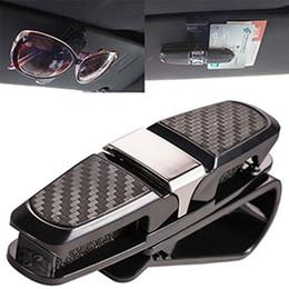 Wholesale auto glass accessories - Car Auto Sun Visor Glasses Sunglasses Card Ticket Holder Clip Accessory Black Sun Visor Glasses Sunglasses Card Ticket Holder BBA253