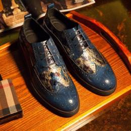 New Italian Leather Dress Chaussures Pour Homme Borgues Oxfords 2018 Costumes D'affaires Formelle Tuxedo Oxford Chaussures Chaussures À Lacets Sculpté ? partir de fabricateur