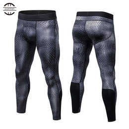 Wholesale sports leggings for men - Yuerlian New GYM Compression Bodybuilding Pantalones Hombre Fitness Tights Trousers Sweat Pants For Men Sport Running Leggings