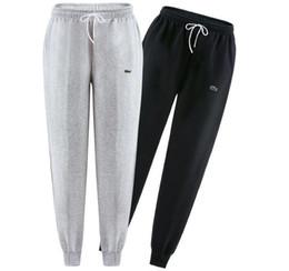 pantalones de cocodrilo Rebajas Nueva 2018 moda marca cocodrilo bordado pantalones de los hombres delgado color sólido de la elasticidad de los hombres pantalones casuales hombre 100% pantalones de algodón diseñador S-3XL