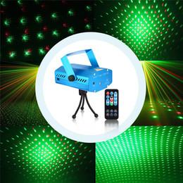Stella rossa lampeggiante online-Proiettore laser Stage Light LED Litake Mini Red Green Star Autoattivato Flash automatico FDA Certificato per Club Disco Bar DJ Party Home Deco