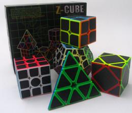 Würfel kohlenstoff online-Satz von Z-Cube Carbon Fiber Sticker Zauberwürfel Geschenkpackungen Geschwindigkeit Puzzle