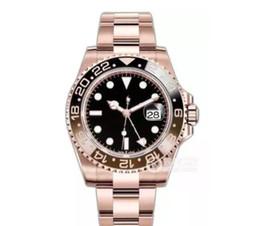 оригинал люкс Скидка 2018 Недавно перечисленных V3 Batman GMT2 Deluxe Watch 40 мм Керамический вращающийся безель лупа механизм с автоподзаводом оригинальный Застежка часы Наручные часы