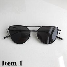 acce8da2aa73c Fashion gentle Men WOMEN Round Polarized Sun glasses Retro Aluminum Frame  Women Sunglasses Oculos de sol MONSTER UV400 mod LOVE PUNCH