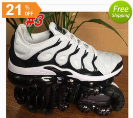 Wholesale winter male - 2018 Vapormax TN Plus Men Basketball Shoes Olive In Metallic Silver Colorways Shoes Men For Running Male Shoe Pack Triple Black Mens Shoes