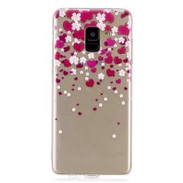 Casos del cráneo de la galaxia online-Caso de TPU suave Capinhas para Samsung Galaxy A8 Plus 2018 Cubierta de pintura transparente Mariposa tacones Penguin Skull Phone Cases