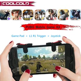 Free Fire Fortnite PUBG Gamepad Móvel L1R1 Botão Joystick Telefone PUGB Game Pad Kit Controlador L1 R1 Trigger para iPhone Android de