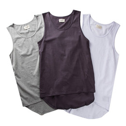 Wholesale grey tank top men - Fear of God Tank Tops Justin Bieber Grey White Cotton Casual Sleeveless T-Shirt Men 'S Hip-Hop Skateboard Fear of God Tank Tops