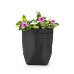 Wholesale wholesale mini paper flowers - Mini Kraft Paper Flower Pot Cover Washable Storage Bags Plants Flowerpot Bag Children Room Sundries Gift Bags Organizer Pouch