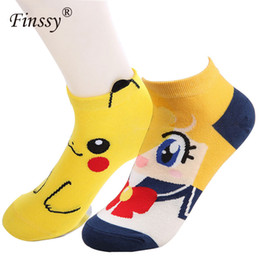 Chaussettes courtes Cartoon Sailor Moon Socks Pikachu pour femme Kawaii ? partir de fabricateur