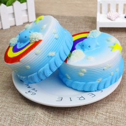 Wholesale autumn cake - Squishy cakes Cute Toy Cake Slow Rising Stress Reliever Toy Mid-Autumn Halloween Christmas Birthday Gift