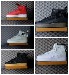 Wholesale Court Force - Fear of God Special Field Mid SF Forces Hi Ultra Hight Top Military Sneakers Men's and Women's Genuine Leather Casual Sport Shoes