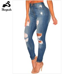 e2f5312b81262 Woman Plus Size Skinny Pencil Jeans Big Size Casual Street Wear Fashion  High Waist Slim Bodycon Denim Jeans Vintage Hole Pants