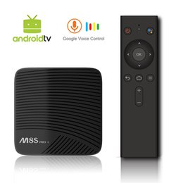 Bluetooth für fernfernbedienung online-MECOOL M8S PRO L Android TV OS Netflix 1080P 3 GB / 16 GB YouTube 4K TV Box mit Voice Remote Amlogic S912 802.11ac WiFi