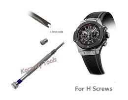 Reloj destornillador para H husillo Hublot Reloj Bisel Banda correa reparación herramienta- doble hoja ideal para la reparación del reloj desde fabricantes