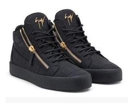 Оригинальная коробка; высокое качество zanotti черный и белый кожаный топ для повседневная обувь, Мода мужчины и женщины кроссовки Бесплатная доставка от