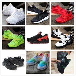 Wholesale Wholesale Casual Shoes For Men - 2019 New Huarache Ultra Running Shoes For Big Kids Men & Women, Black White Red Sneakers Triple Huaraches Sports Casual Shoes Size 36-46
