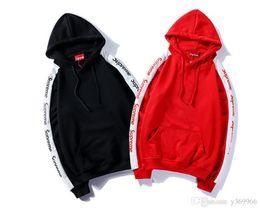 Тонкий черный пояс онлайн-Европейские и американские звезды с одинаковым тонким свитером, пара моделей с капюшоном куртки. Черный, красный опционный.