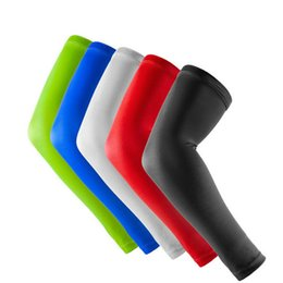 Wholesale Cycling Cycle Arm Warmer - 1 Pair Elastic Perspiration Breathable Sport Basketball Volleyball Elbow Support Pads Compression Cycling Volleyball Arm Sleeves Warmer