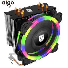 Aigo 5 Heatpipes CPU Cooler Radiator Led RGB Halo Light Heat Sink for AMD Intel Silent 120mm 4PIN PC CPU Cooling Cooler Heatsink от Поставщики процессор кулер intel