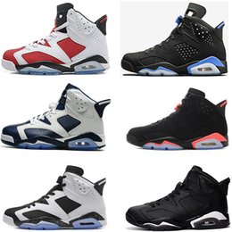 Wholesale Maroon Shoes - Best 6 6s men women Basketball shoes unc black cat Hare Carmine White Infrared Angry bull sport blue Oreo Olympic Maroon Chrome sneaker