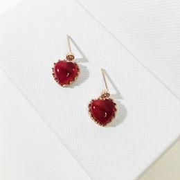 Herzförmige Süße Rote Herzförmige Ohrstecker 925 Sterling Silber Mode Frauen Charme Schmuck Geschenk von Fabrikanten