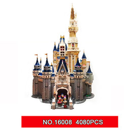Wholesale building block sets - LEPIN 16008 Cinderella Princess Castle City set 4080pcs Model Building Block Kid DIY Toy Birthday Gift Compatible 71040
