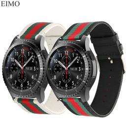 relojes s3 Rebajas 22 mm de cuero correa de nylon para Samsung Gear S3 Frontier Band para Xiaomi Huami Amazfit metal hebilla de repuesto correa para reloj
