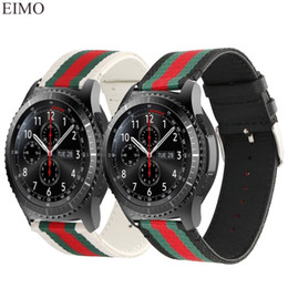 2019 nylon armbanduhren uhren 22mm Leder Nylonband für Samsung Gear S3 Frontier Band für Xiaomi Huami Amazfit Metallschnalle Ersatzarmband rabatt nylon armbanduhren uhren