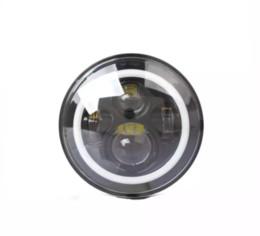 Jk led-scheinwerfer online-7Inch High Power 75W LED Lampen Scheinwerfer mit weißen Halo Ring Angel Eyes und Bernstein Blinker Halo für Jeep Wrangler JK