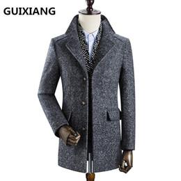 cappotto di trincea smontabile Sconti 2017 Inverno moda uomo addensare trench  giacca staccabile giacca uomo casual f3c397152da
