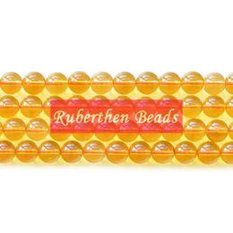 cuentas sueltas de cristal amarillo Rebajas Comercio al por mayor de Alta Cantidad de Cristales de Piedras Naturales de Piedra Natural Quarz Perlas Sueltas de Piedra de Perlas Redondas Mejor Joyería Que Hace Accesorio