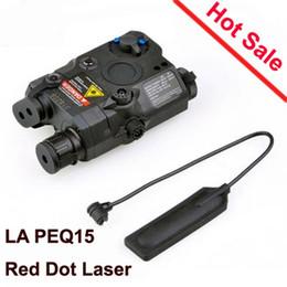 2019 rote led jagd taschenlampe Jagd LA PEQ 15 Tactical Taschenlampe Led Laser IR Infrarot Batterie Fall mit rotem Laser und IR passt für Standard EX276 günstig rote led jagd taschenlampe