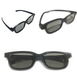 2019 lunettes bleues pas cher Lunettes stéréoscopiques polarisées 3D noires Lunettes de cinéma 3D noires Les lunettes 3D ne clignotent pas dans le cinéma dédié Matériel ABS 128