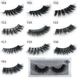 Wholesale Eyelash Extensions Human Hair - Newest makeup 3D Eyelashes Eye lash Transparent Plastic Extension Sexy 10styles Eyelash Full Strip Eye Lashes DHL shipping