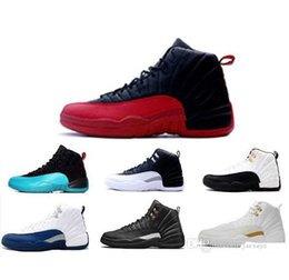 Wholesale Body Game - Men Women Retro 12 Basketball Shoes Athletic Outdoor Shoes Cheap Best Air Retro 12 Wool XII Ovo White Flu Game wolf grey Gym Red