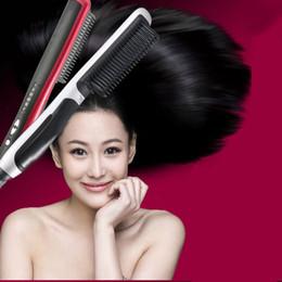 Raddrizzatore di stiratura di ceramica del salone del anti della spazzola del ferro del pettine del salone di riscaldamento LCD pro Riscaldamento elettrico raddrizzatore dei capelli sicuro veloce ionico da raddrizzatore dei capelli di marca fornitori
