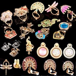 Wholesale Unique Rings - New Ring Phone Holder Bling Diamond Unique Mix Style Cell Phone Holder Fashion For iPhone 6 7 8 x Samsung S8 cellphone stand iPad