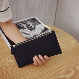 Wholesale wholesale womens bags purses - womens long wallets female fashion PU leather zipper clutch wallet Coin Purses Mobile Phone Bags Lady Card & ID Holders