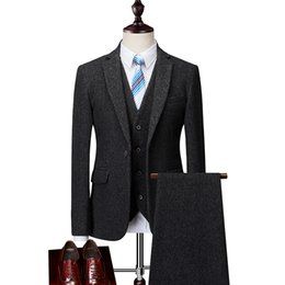 Männer Anzug High-End-Wolle schlanke Business-Party Kleid Bräutigam Hochzeit Anzug modische beiläufige große Größe S-6XL für große Männer Anzüge von Fabrikanten