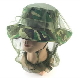 Wholesale Bug Hats - Midge Mosquito Insect Hat Bug Mesh Head Net Face Protector Travel Camping For Travelling Backpacking Camping Fishing beekeepers