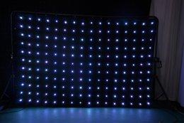 contexto de rideau vidéo Promotion LED Drape Toile de Fond Vidéo Rideau P18 2x3 m 6.6x9.8ft Tri-couleur LED Lampe SD Contrôleur DMX Contrôleur