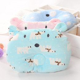 Wholesale Polar Pillow - 2017 Hot 28*21CM Cartoon Polar Bear Baby Shaping Pillow Anti Roll Cushion Nursing Pillow To Prevent Partial Head For 0-12 Months