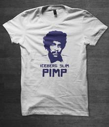 Buchhemd online-Eisberg Slim T Shirt Zuhälter Blaxploitation Buch Marke Shirts Jeans Print