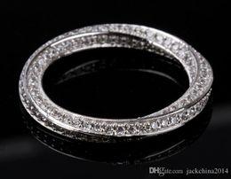 Canada Victoria Wieck Luxe Classique Bijoux 925 En Argent Sterling Complet Blanc Saphir Cercle CZ Diamant Pierres Précieuses Femmes Bague De Mariage Bague Cadeau Offre