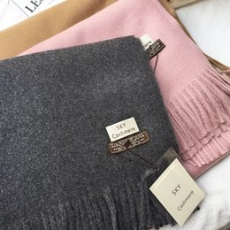 Wholesale Blue Sky Cashmere - High quality Winter sky Scarves new style of imitation cashmere color scarf simple style highlight the temperament scarves 200*70cm
