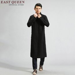 trajes tradicionais chineses Desconto Tradicional chinesa de roupas para homens traje chinês estilo asa chun zen roupas homens vestido tradicional KK1611 H