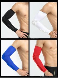 Wholesale volleyball wrist support - Free DHL High Quality Arm Compression Sleeve Crashproof Elbow Support Wrist Cuffs for Basketball Football Volleyball Baseball G441S